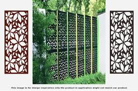 Metal Privacy Screen Fence Metal Tree Metal Wall Art Outdoor Indoor Privacy Panel Garden Screen Restaurant Decor 4 H X 2 Walmart Com Walmart Com