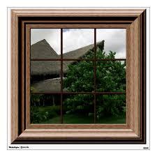Faux Window View Tropical Landscape Mural Wall Decal Zazzle Com