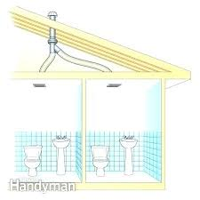 how to install bathroom fan roof vent