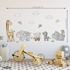 Safari Wall Decal Girls Safari Wall Sticker Nursery Safari Nursery Wal Kidscutedecorations