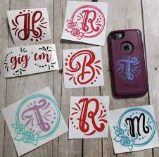 A Personal Favorite From My Etsy Shop Https Www Etsy Com Listing 580907567 Monogram Initial Decal Initials Decal Monogram Initials Personalized Gifts For Mom
