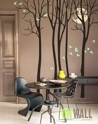 Full Moon Living Room Vinyl Wall Tree Decal Sticker Birds Etsy