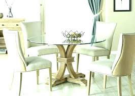 glass dining room table set round glass