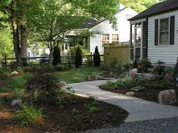 heavenly simple front yard small garden