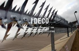 Rotating Wall Spikes Rotary Razor Spikes Anti Climb Spikes For Perimeter Security Fences Roofs Guttering Drain Pipes For Sale Fence Spikes Toppings Manufacturer From China 109187657