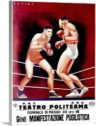 pugilistica boxing match vintage