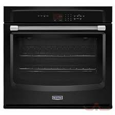 maytag 30 black electric wall oven