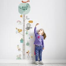 Cute Forest Tree Height Measure Wall Sticker For Kids Room Nursery Child Growth Chart Wall Decal Baby Gift Animal Room Decor Multi Akolzol Com
