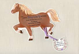 10 Horse Birthday Party Invitations Handcut Personalized