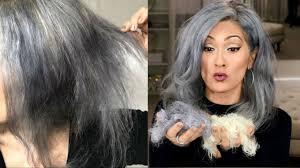my hair off gray hair transition