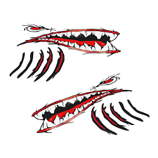 2020 Waterproof Adhesive Shark Teeth Mouth Eye Stickers Kayak Fishing Boat Car Wall Window Laptop Cool Funny Decals From Tishita 11 37 Dhgate Com