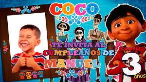 Invitacion Digital Animada Motivo Coco De Disney Youtube