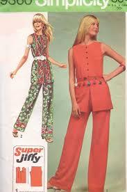 sleeveless tunic and hip hugger pants
