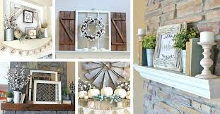 pictures of decorated mantels