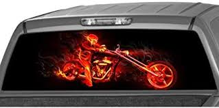 Red Car Truck Suv Rear Window Flaming Skull Tint Graphic Decal Sticker 58 X 18 Archives Statelegals Staradvertiser Com