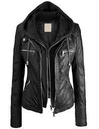 biker chic faux leather jacket xs