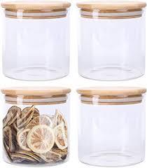 lawei 4 pack glass storage jars