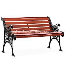 cast iron outdoor wood garden bench