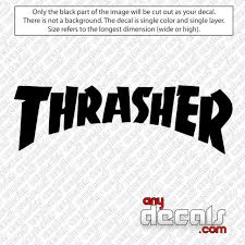 Car Decals Car Stickers Thrasher Logo Style Skateboard Logo Car Decal Anydecals Com