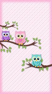 cute pink owl wallpaper cute backgrounds