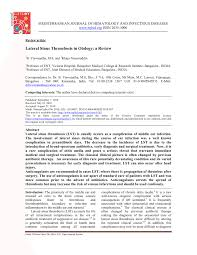Pdf Lateral Sinus Thrombosis In Otology A Review