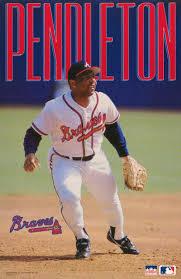 Poster MLB Baseball Terry Pendleton Atlanta Braves Ship RW 16 a for sale  online | eBay
