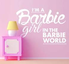 Barbie Girl Text Decal Tenstickers
