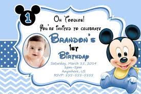 Baby Mickey 1st Birthday Invitation 8 99 Cumple Mickey Bebe