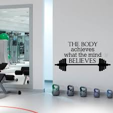 Sport Quote Gym Wall Decals Stickers Motivational Quotes Wall Etsy