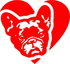 French Bulldog In Heart Vinyl Decal By Stickersonlinestore On Etsy Bulldog French Bulldog Vinyl Decals