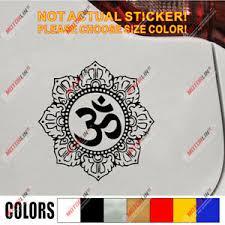 Om Symbol Decal Sticker Yoga Hindu Hinduism Buddhism Aum Lotus Car V Ebay