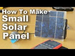 how to make small solar panel you