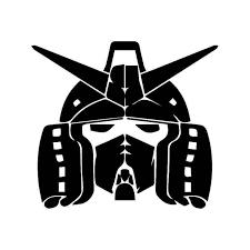 Gundam Face Head Vinyl Sticker