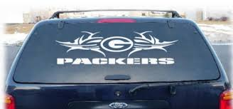 Green Bay Packers Tribal Rear Window Decal 2 9x24 Cars Boats Vehicles Parts Webstore Online Auction