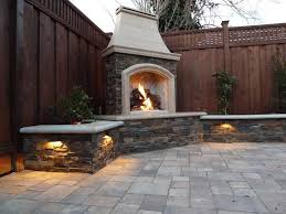 small outdoor gas fireplace backyard