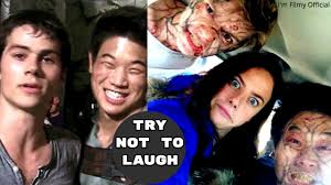 Maze Runner 1&2 Bloopers and Gag Reel - Try Not To Laugh With Dylan O'Brien  - YouTube