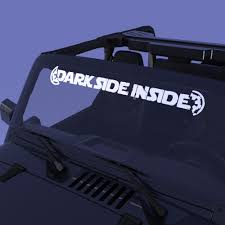 Dark Side Inside Distressed Car Decal Nerdecal Star Wars Jeep Decals