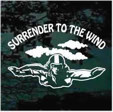 Surrender To The Wind Skydiving Decals Decal Junky