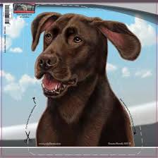 Chocolate Lab Dogs On The Move Window Decal Redd Waggin Pet Treat Truck