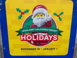 holidays at legoland california