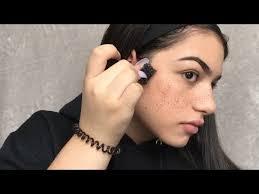 fake freckles makeup tutorial