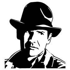 403 Forbidden Indiana Jones Vinyl Wall Art Decals Silhouette Stencil