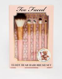 too face teddy bear makeup brushes on