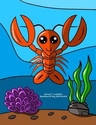 Kawaii Lobster Handwriting Notebook ...