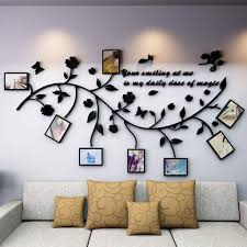 Amazon Com Lechen Family Tree Wall Decal Peel Stick Vinyl Sheet Easy To Install Apply History Decor Mural For Home Bedroom Stencil Decoration Diy Photo Gallery Frame Decor Sticker B Home