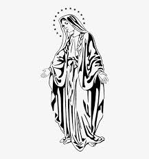Virgin Mary Wall Sticker Virgen Maria Png Transparent Png 374x795 Free Download On Nicepng