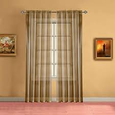 Amazon Com Warm Home Designs Pair Of Short Caramel Gold Sheer Window Curtains Each Voile Drape Is 56 X 63 Inches In Size Great For Kitchen Living Room Kids Bedroom 2 Fabric Panels