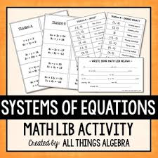 systems of equations math lib by all