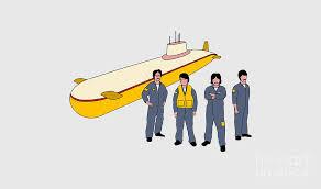 Beatles Yellow Submarine Wall Decals Digital Art By Boni Beno