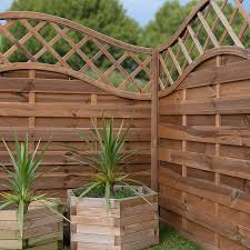 prague wooden garden fencing panels